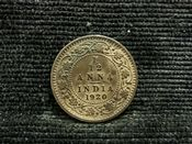 India, George V, 1/12th Anna 1920, VF, JAT583